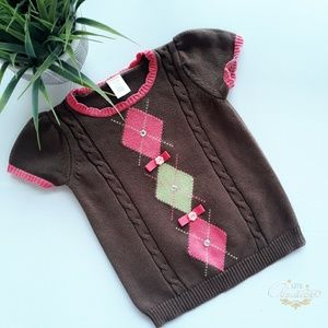 Gymboree Equestrian Club Argyle Sweater Size 3-4